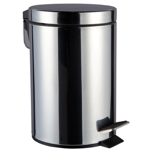 3L Polished Stainless Steel Pedal Bin