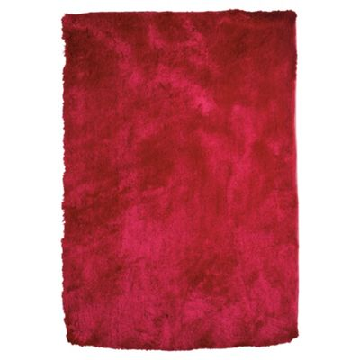 Tesco Rugs Luxurious shaggy rug fuchsia 70x140cm
