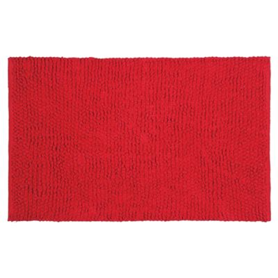 Tesco Chenille Loop Mat Red