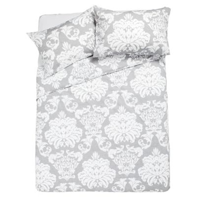 Regency Damask Duvet King Size, Grey