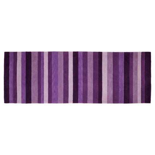 Tesco Rugs - Stripe runner plum 67x200cm
