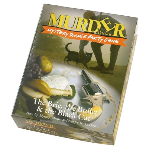 Murder Mystery Dinner Party game -The Brie, The Bullet & The Black Cat