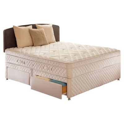 Sealy Double Divan Bed, Diamond Excellence, 4 Drawer