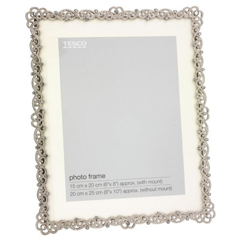 Tesco Metal and Jewel Rope Effect Frame 8x10