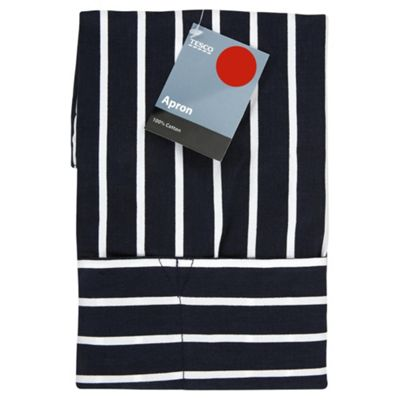 Tesco Blue Butchers Stripe Apron