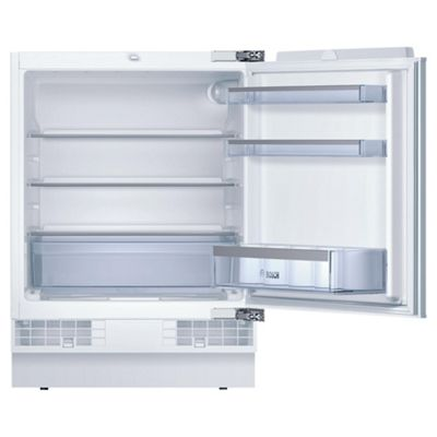 Bosch KUR15A50GB Under Counter Built in Larder Fridge, Capacity 141 litres, Energy Rating A+, Width 60.0cm. White