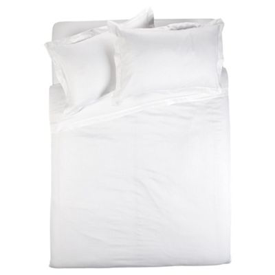 Finest Pima Cotton Herringbone Duvet Cover Set Super Kingsize