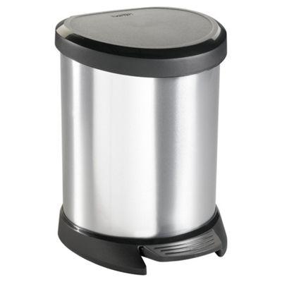 Curver Deco Silver 5L Pedal Bin