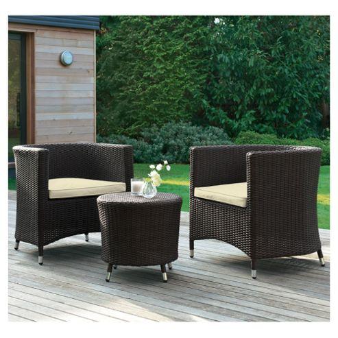 Santo Table & 2 Tub Chairs Patio Furniture Set