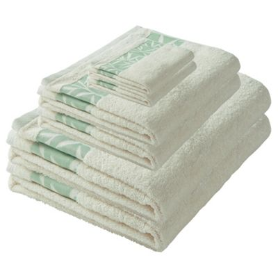 F&F home Leaf Towel Bale Ivory