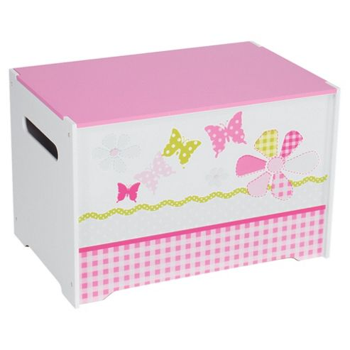Daisy Toy Box, Pink & White