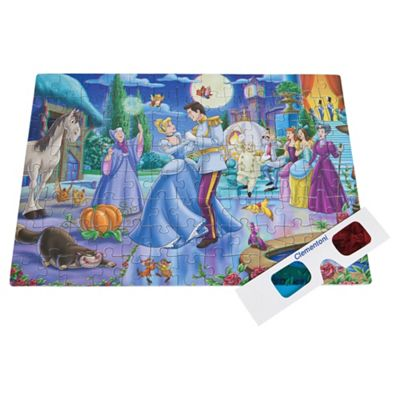 Sambro Disney Princess 104 Piece 3D Puzzle (3D Glasses Included In Box)