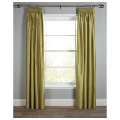 Tesco Faux Silk Pencil Pleat Curtains W163xL229cm (64x90