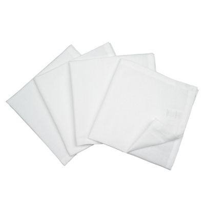 Tesco Set of 4 Napkins, White