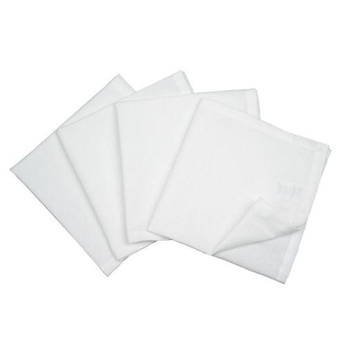 Tesco Set of 4 Napkins, White