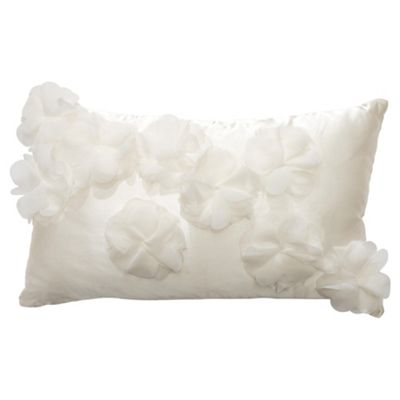 F&F Home 3d flower cushion, ivory
