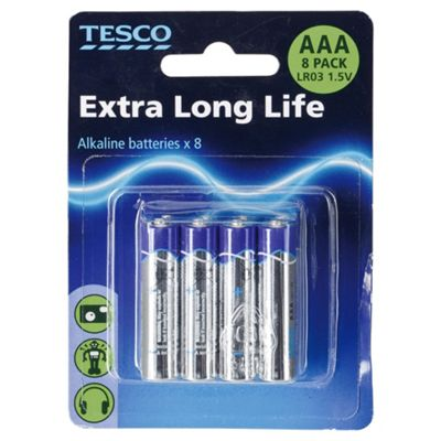 Tesco 8 Pack AAA batteries