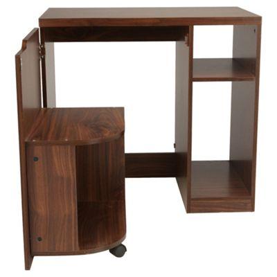 Seattle Hideaway Desk, Walnut Effect