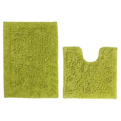 Tesco Pedestal And Bath Mat Set Lime