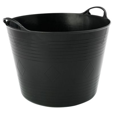 42L Plastic Flexi Tub with Handles - Black