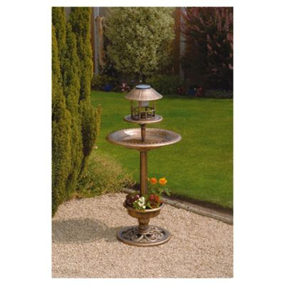 Buy Bird Bath Feeder With Solar Light And Planter From Our