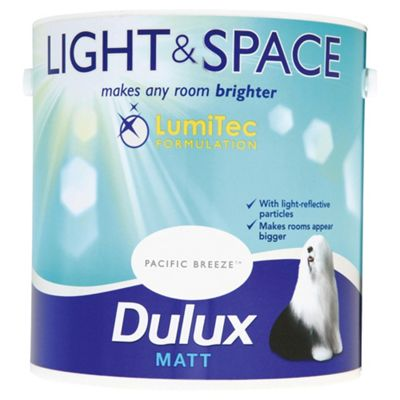Dulux Light & Space Matt Emulsion Paint, 2.5L, Pacific Breeze