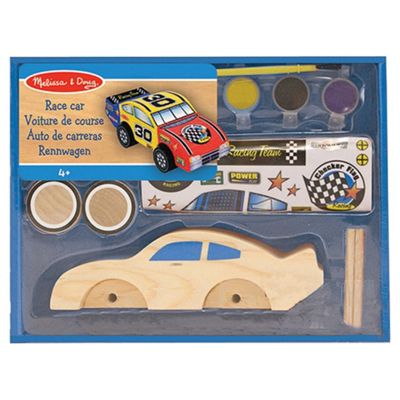 Melissa & Doug Decorate Your Own Race Car Wooden Toy