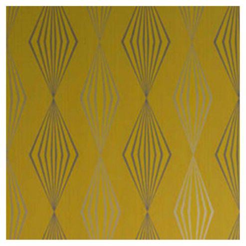 Dulux Graphika Wallpaper, Mustard