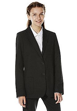 F&F School Girls Soft Touch Blazer - Black