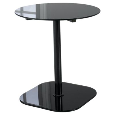 Lola Glass & Metal Side Table Black