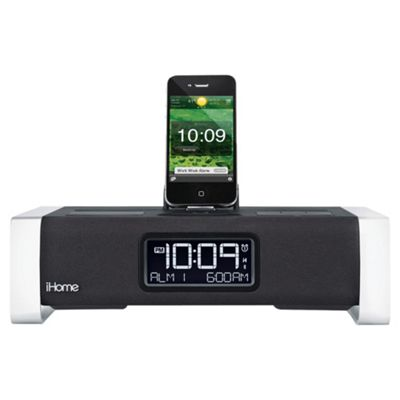 Ihome IA100 Radio Alarm Clock Speaker Dock for iPad