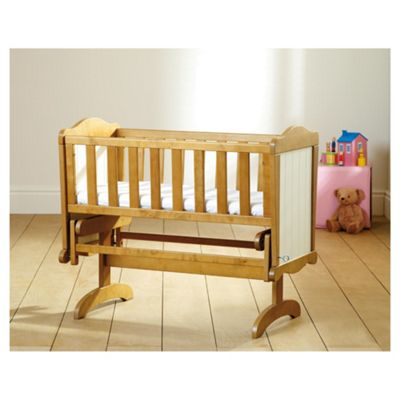Saplings Gracie Crib & Foam Mattress, Pine & Ivory