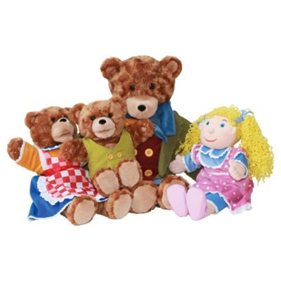 The Puppet Company Goldilocks & 3 Bears Glove Puppets (Giant Story Tellers)