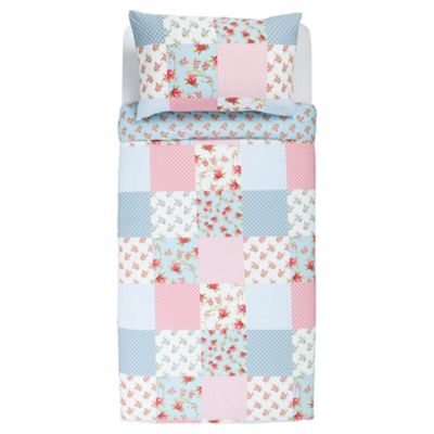 Patch Floral Print Duvet Single