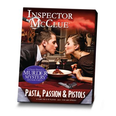 Inspector McClue Murder Mystery Dinner Party Game- Pasta, Passion & Pistols