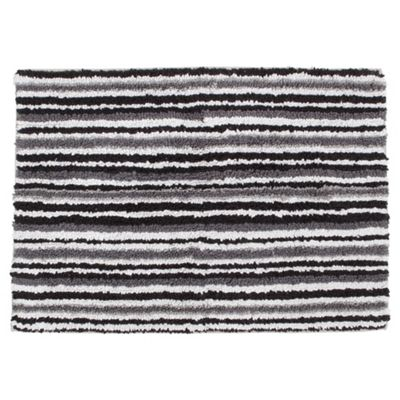Tesco Linear Bath Mat Black