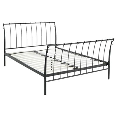 Paris Double Bed Frame, Black
