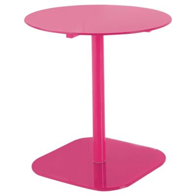 Lola Glass & Metal Side Table Pink