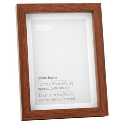 Tesco Dark wood Frame 5
