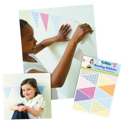 FunToSee Party and Celebration Bunting Wall Stickers