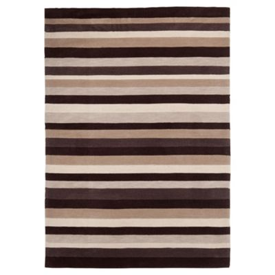 Tesco Rugs Stripes Rug Natural 120X170cm