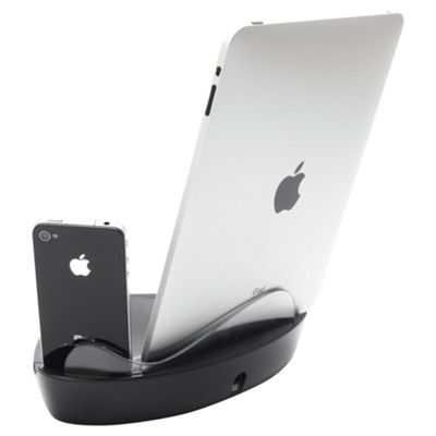 Griffin Powerdock Dual Charger for iPad 3, iPod2/iPhone - Black
