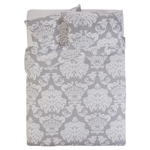 Tesco Regency Damask Grey Duvet Cover Set Double