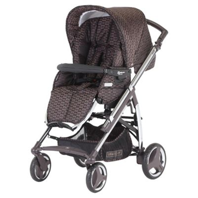 Bebecar Act Chrome Pushchair, Bronze Velvet