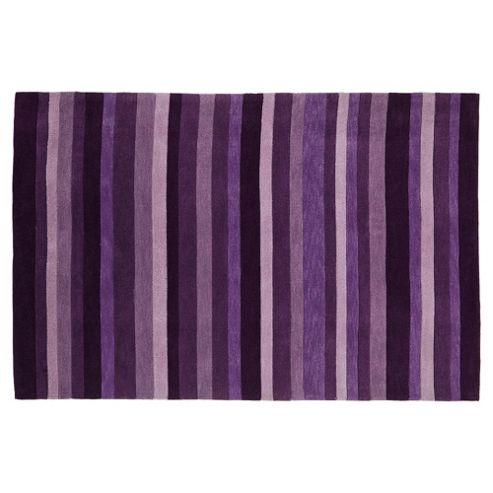 Tesco Rugs Stripes Rug Plum 150X240Cm