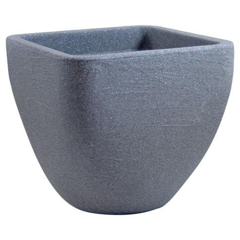 Small Square Top Round Base Planter Granite 33cmxH30cm