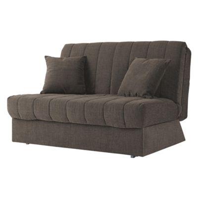 Morton Fabric Double Sofa Bed, 2 Seater Sofa Chocolate