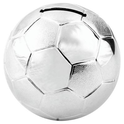 Silver-plated Football Money Box