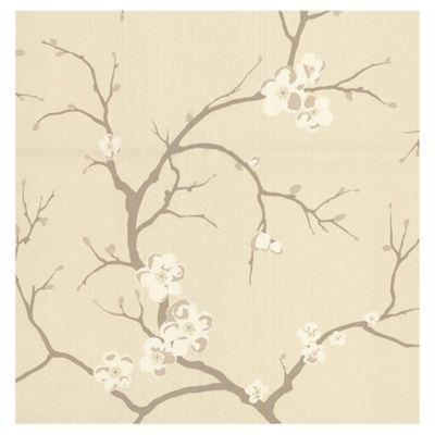 Dulux Blossom Wallpaper, Almond
