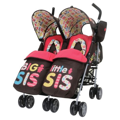 Cosatto Twin Pushchair - Big Sis Little Sis